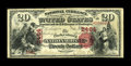 National Bank Notes:Pennsylvania, Parkesburg, PA - $20 1875 Fr. 434 The Parkesburg NB Ch. # 2464. ...