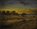 Fine Art - Painting, American, Attributed to GEORGE INNESS (American 1825-1894). Pasture atDawn, 1891. Oil on canvas. 8 x 10 inches (20.3 x 25.4 cm). ...
