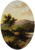 Fine Art - Painting, European:Antique  (Pre 1900), C. MORRIS (British Nineteenth Century). Figure on a CountryRoad. Oil on board. 15-3/4 x 11 inches (40.0 x 27.9 cm) . Si...