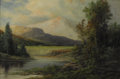 Fine Art - Painting, American:Antique  (Pre 1900), AARON DEAN FLETCHER (American 1817-1902). Sunrise in theRockies. Oil on original unlined canvas. 20 x 30 inches (50.8x...