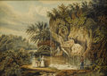 Fine Art - Painting, European:Antique  (Pre 1900), WILLIAM ANDREWS NESFIELD (British 1793-1881). Petrified Well, Yorkshire, 1830. Watercolor on paper. 9-1/2 x 13-3/8 inche...