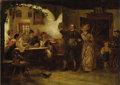 Fine Art - Painting, European:Antique  (Pre 1900), LUDWIG BLUME-SIEBERT (German 1853-1929). The HappyHomecoming. Oil on canvas. 11 x 15 inches (27.9 x 38.1 cm).Signed lo...