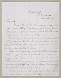 Military & Patriotic:Civil War, JAMES LONGSTREET AUTOGRAPH LETTER SIGNED, RICHMOND, VIRGINIA 1863....