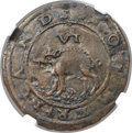 (1615-16) 6PENCE Sommer Islands Sixpence, Large Portholes -- Tooled -- NGC Details. AU. Breen-3, W-11445. R.6. ...(PCGS#...
