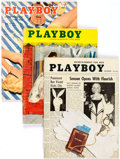 Magazines:Miscellaneous, Playboy 1955-56 Group of 12 (HMH Publishing, 1955-56) Condition: Average VG.... (Total: 12 Items)