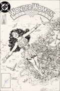 Original Comic Art:Covers, Chris Marrinan and George Perez Wonder Woman V2#36 Cover Original Art (DC, 1989)....