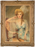 "Movie/TV Memorabilia:Original Art, A Bette Davis Prop Oil Painting from ""Mr. Skeffington."" ..."