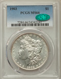 Morgan Dollars: , 1903 $1 MS66 PCGS. CAC. PCGS Population: (1073/97). NGC Census:(502/108). CDN: $400 Whsle. Bid for problem-free NGC/PCGS M...