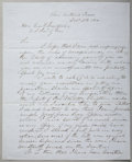 Military & Patriotic:Civil War, JAMES LONGSTREET EARLY AUTOGRAPH LETTER SIGNED,1850....