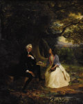 Fine Art - Painting, American:Antique  (Pre 1900), WILLIAM SMITH JEWETT (American 1812-1873). RomanticEncounter, 1848. Oil on canvas. 36 x 29 inches (91.4 x 73.7cm). Sig...