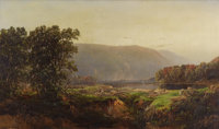 WILLIAM LOUIS SONNTAG (American 1822-1900) View of the White Mountains, 1866 Oil on canvas laid on c