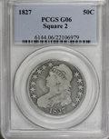 Bust Half Dollars: , 1827 50C Square Base 2 G6 PCGS. PCGS Population (3/1134). NGCCensus: (2/1448). Mintage: 5,493,400. Numismedia Wsl. Price f...