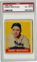 Baseball Cards:Singles (1940-1949), 1948-49 Leaf Danny Murtaugh #142 PSA EX-MT 6. Short-print rookiecard from the 1948-49 Leaf baseball issue features Danny M...