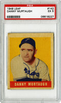 Baseball Cards:Singles (1940-1949), 1948-49 Leaf Danny Murtaugh #142 PSA EX 5. Yet another example ofthe short print #142 card from the 1948-49 Leaf baseball ...