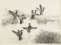 Texas:Early Texas Art - Impressionists, REVEAU BASSETT (1897-1981). Untitled. Lithograph on paper. 10 x13-1/2 inches (25.4 x 34.3 cm). Signed lower right. ...