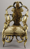 Texas, UNKNOWN MAKER. Longhorn Chair, early 1900s. 42 x 24-1/4 x18-1/2 inches (106.7 x 61.6 x 47.0 cm). Unsigned. ...