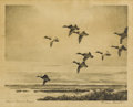 Texas:Early Texas Art - Drawings & Prints, REVEAU BASSETT (1897-1981). Eleven O'Clock Flight.Lithograph on paper. 9 x 11-1/2 inches (22.9 x 29.2 cm). Signedlower...