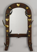 Texas, UNKNOWN MAKER. Longhorn Mirror, early 1900s. 40 x 21 x 5-1/2inches (101.6 x 53.3 x 14.0 cm). Unsigned. ...