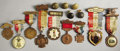 Military & Patriotic:Civil War, Fourteen G.A.R. Reunion Medals and Buttons Confederate Surgeon Samuel Caldwell collected Union memorabilia as well as memen... (Total: 1 Item)