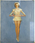 Illustration:Pin-Up, GIL ELVGREN (American 1914 - 1980) . Doctor's Orders, 1939,original pin up illustration . Oil on canvas . 30 x 24in. . ...