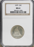 Seated Quarters, 1879 25C MS61 NGC....
