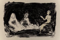 Fine Art - Work on Paper:Print, Eric Fischl (b. 1948). Annie, Gwen, Lilly, Pam, and Tulip(Three seated women), 1986. Lithograph in colors on Rives BFK ...