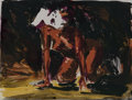 Fine Art - Work on Paper:Print, Eric Fischl (b. 1948)Woman on all fours...