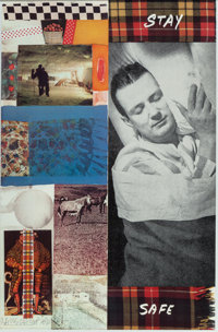 Ed Ruscha and Robert Rauschenberg Stay Safe, poster, 1978 Offset lithograph in colors on paper 35