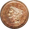 Proof Braided Hair Half Cents: , 1841 1/2 C Original PR65 Red and Brown NGC. The customary die crack is light on this Gem example. Significant original copp...
