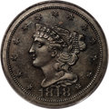 Proof Braided Hair Half Cents: , 1848 1/2 C Restrike PR64 Brown PCGS. Breen-2, High R.5. The FirstRestrike, identified by Small Berries, a lack of file mar...