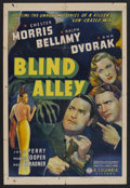 "Movie Posters:Crime, Blind Alley (Columbia, 1939). One Sheet (27"" X 41""). Crime.Starring Chester Morris, Ralph Bellamy, Ann Dvorak, Joan Perry a..."