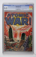 Golden Age (1938-1955):Science Fiction, Atomic War! #1 (Ace, 1952) CGC VG+ 4.5 Cream to off-white pages....