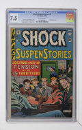 Golden Age (1938-1955):Horror, Shock SuspenStories #1 (EC, 1952) CGC VF- 7.5 Off-white pages....