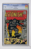 Silver Age (1956-1969):Mystery, Tales to Astonish #3 (Marvel, 1959) CGC VF- 7.5 Off-white pages....