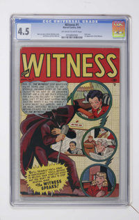 Witness #1 (Marvel, 1948) CGC VG+ 4.5 Off-white to white pages