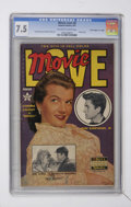 """Golden Age (1938-1955):Non-Fiction, Movie Love #8 Davis Crippen (""""D"""" Copy) pedigree (Famous Funnies,1951) CGC VF- 7.5 Off-white to white pages...."""