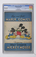 """Golden Age (1938-1955):Cartoon Character, March of Comics #8 Mickey Mouse - Davis Crippen (""""D"""" Copy)pedigree(K. K. Publications, Inc., 1947) CGC VF 8.0 Off-whitepages..."""