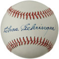 Autographs:Baseballs, Chas Gehringer Single Signed Baseball. Clean white OAL (Brown ) orbthat we see here has been adorned with a sweet spot sig...