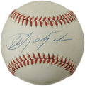 Autographs:Baseballs, Carl Yastrzemski Single Signed Baseball. Bathed slightly in thevintage cream tone, this fine OAL (Brown) baseball has been...