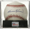 Autographs:Baseballs, Harmon Killebrew Single Signed Baseball, PSA Mint 9. A gorgeoussweet spot signature from this Hall of Famer and 500 Home R...