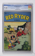 """Golden Age (1938-1955):Western, Red Ryder Comics #43 Davis Crippen pedigree (""""D"""" Copy) (Dell, 1947) CGC VF/NM 9.0 Off-white pages...."""