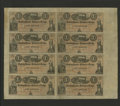 Obsoletes By State:Iowa, Council Bluffs, IA- Banking House of Baldwin & Dodge$1-$1-$1-$1-$1-$1-$1-$1 185_ Oakes 26-1 Uncut Sheet. This is notonly t...