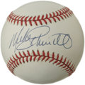 Autographs:Baseballs, Mike Schmidt Single Signed Baseball. The 1981 All-Star game wasdecided in dramatic fashion when slugger Mike Schmidt clubb...