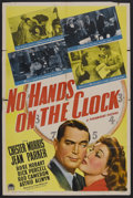 "Movie Posters:Mystery, No Hands on the Clock (Paramount, 1941). One Sheet (27"" X 41"")Style A. Mystery. Starring Chester Morris, Jean Parker, Rose ..."