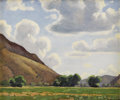 Texas:Early Texas Art - Regionalists, FRED DARGE (1900-1978). Hondo Valley. Oil on canvasboard. 6x 7 inches (15.2 x 17.8 cm). Signed lower right. Titled vers...