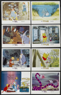 "Movie Posters:Animated, The Sword in the Stone/Winnie the Pooh and a Day for Eeyore Combo (Buena Vista, R-1983). Lobby Card Set of 8 (11"" X 14""). An... (Total: 8 Items)"
