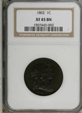 Large Cents, 1802 1C XF45 NGC....
