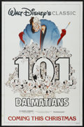 "Movie Posters:Animated, 101 Dalmatians (Buena Vista, R-1985). One Sheet (27"" X 41"")Advance. Animated...."