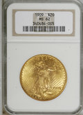 Saint-Gaudens Double Eagles, 1909 $20 MS62 NGC....