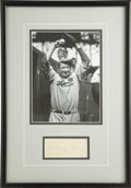 Autographs:Index Cards, Dazzy Vance Signed Index Card Display. For a large portion of the1920s, Dazzy Vance owned the National League's strikeout ...